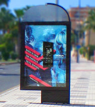 publicidad en 10 mupis-cabinas en el prat de llobregat