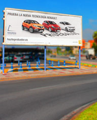 vallas publicitarias 8x3 m. en borriol